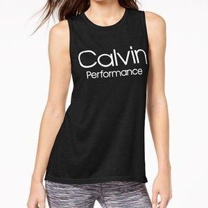 Calvin Klein Performance Logo Wide-Racerback Tank